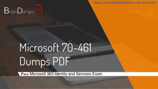 Download 2019 Useful MICROSOFT SQL SERVER Certification 70-461 Dumps PDF