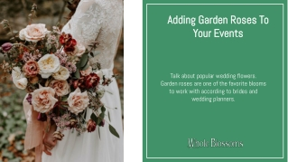 Add Garden Roses to Beautify Your Wedding Decor