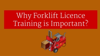 Why Forklift Licence Training is important?