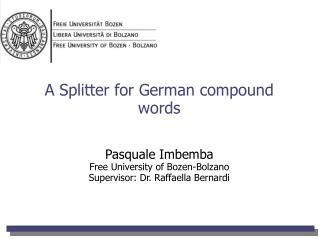 A Splitter for German compound words