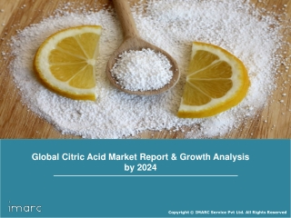 Citric Acid Market: Global Industry Trends, Share, Size, Regional Analysis and Forecast Till 2023
