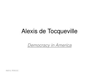 Alexis de Toquevill