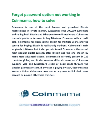 Coinmama support number