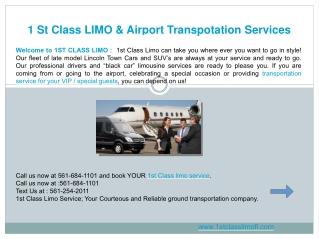 Airport Transportation West Palm Beach FL