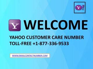 Yahoo Email helpline number 1-877-336-9533