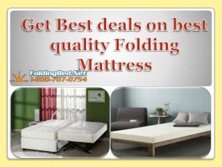 Get Best deals on best quality Folding Mattress