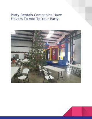 Party Rentals Sacramento