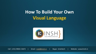 How To Build Your Own Visual Language
