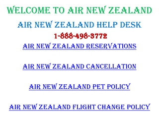 Air New Zealand Change Flights