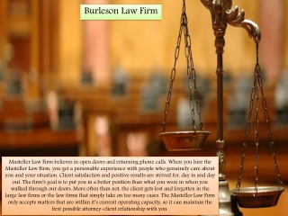 Law Firm in Burleson   Masteller Law Firm