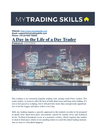 A Day in the Life of a Day Trader