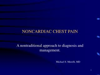 NONCARDIAC CHEST PAIN