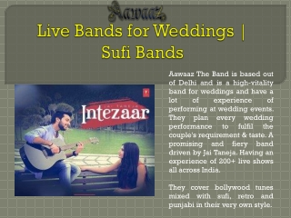Live Bands for Weddings   Sufi Bands