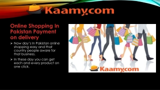Online Shopping In Pakistan Payment on delivery