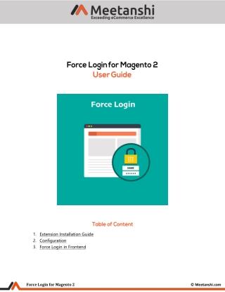 Magento 2 Force Login