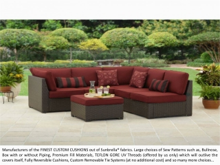 OW Lee Replacement Cushions | Prestige Cushions