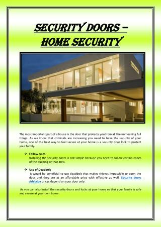 Security Doors – home security