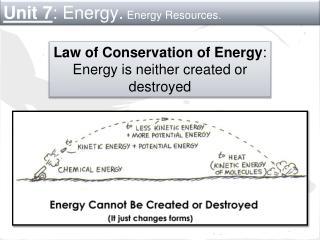 Unit 7 : Energy. Energy Resources.