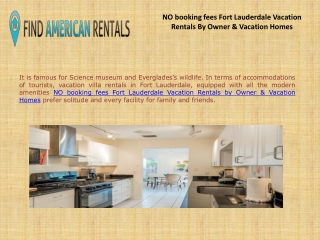 NO booking fees Fort Lauderdale Vacation Rentals By Owner & Vacation Homes