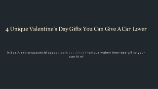 Unique Valentine's Day Gifts For a Car Lover
