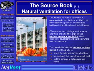 The Source Book  (1...) Natural ventilation for offices