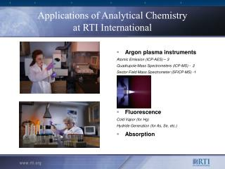 Applications of Analytical Chemistry at RTI International