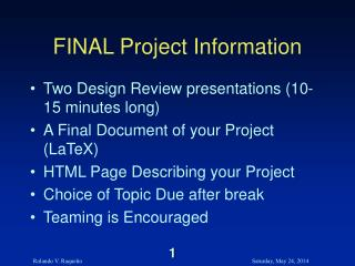 FINAL Project Information