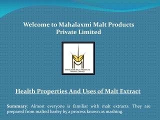 Liquid malt extract, Malt extract liquid