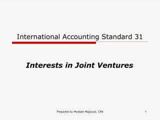 International Accounting Standard 31