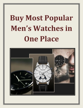 Buy Most Popular Men's Watches in One Place