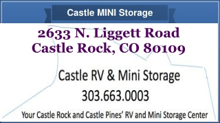 24 hour, self mini storage units, boat, car, auto storage at Castle Rock CO