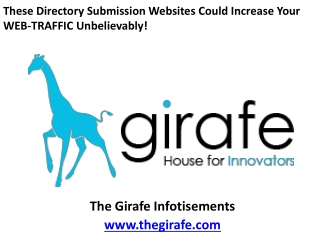 These Directory Submission Websites Could Increase Your WEB-TRAFFIC Unbelievably!