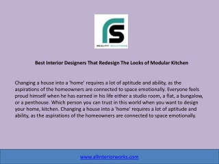 Best Interior Designers That Redesign The Looks of Modular Kitchen