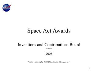 Space Act Awards
