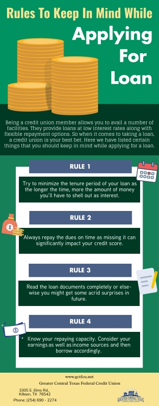 Rules To Keep In Mind While Applying For Loan