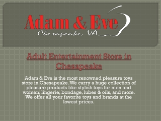 Adult Entertainment Store in Chesapeake