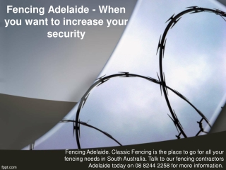 Fencing Adelaide - When you want to increase your security