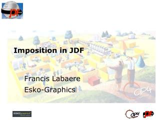 Imposition in JDF