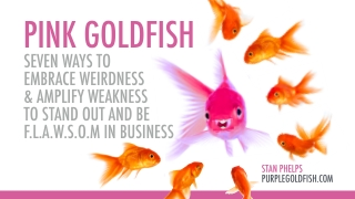 Pink Goldfish - Seven Ways to Embrace Weirdness & Amplify Weakness to Stand Out in Business