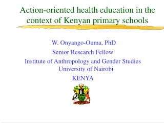 Action-oriented health education in the context of Kenyan primary schools