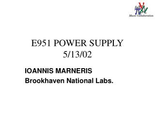 E951 POWER SUPPLY 5/13/02