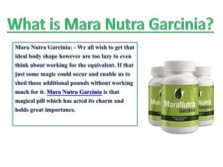 Mara Nutra Garcinia