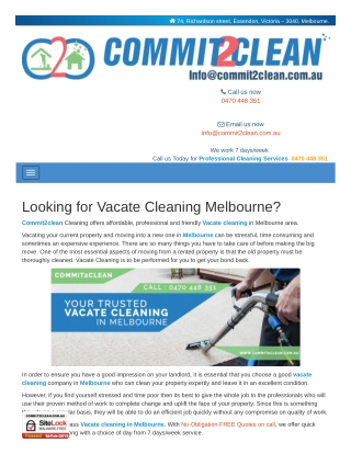 We Help   Vacate Cleaning Melbourne - commit2clean