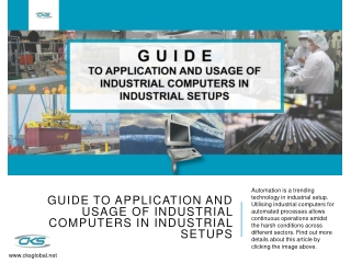 Guide to Application and Usage of Industrial Computers in Industrial Setups