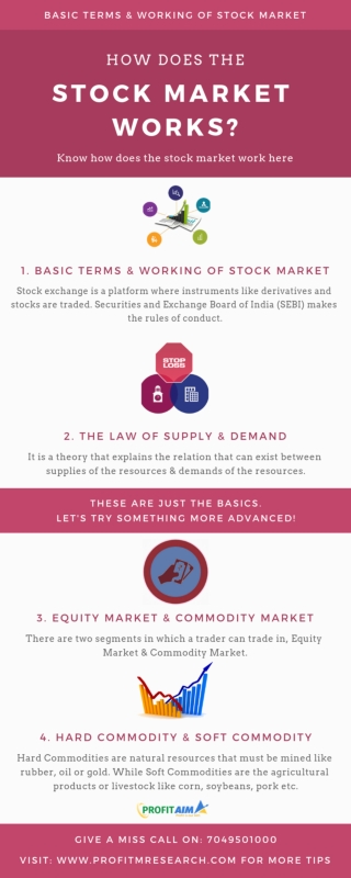 Basic Terms & Working of Stock Market
