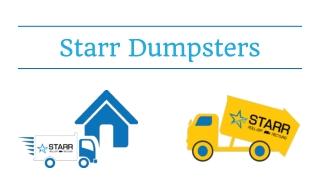 dumpsterrental Washington DC - Starr Dumpsters