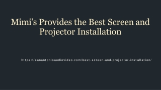 Best Screen and Projector Installation