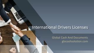 International drivers licenses