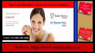 Search An Emergency Dental Services in Brampton