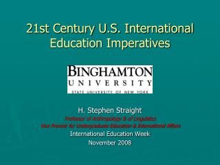 21st Century U.S. International Education Imperatives